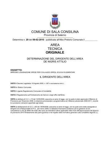 COMUNE DI SALA CONSILINA AREA TECNICA ORIGINALE