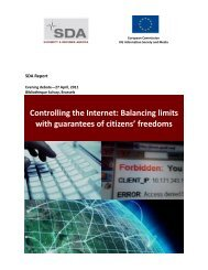 Controlling the Internet - Security & Defence Agenda