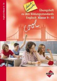 Übungsheft zu den Bildungsstandards Englisch Klasse 9 – 10 ...