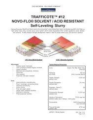 TRAFFICOTE™ #12 NOVO-FLO® SOLVENT / ACID RESISTANT ...