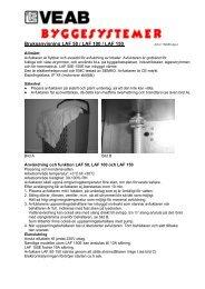 Bruksanvisning LAF 50 / LAF 100 / LAF 150 - Byggesystemer