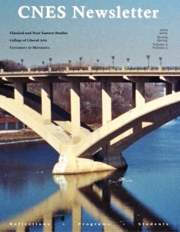 Spring 2005 (PDF) - Classical & Near Eastern Studies - University of ...