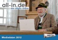 Mediadaten 2012 Online - All-in.de