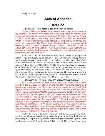 Acts of Apostles Acts 22
