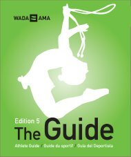 Athlete Guide - Edition 5 - World Anti-Doping Agency