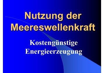 Nutzung der Meereswellenkraft - Brandl Motor
