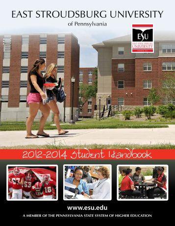 ESU 2012-2014 Student Handbook - East Stroudsburg University