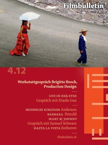 Werkstattgespräch mit Brigitte Broch, Production Design von ... - Focal
