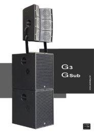 G3-/G-Sub-Catalog - Seeburg acoustic line