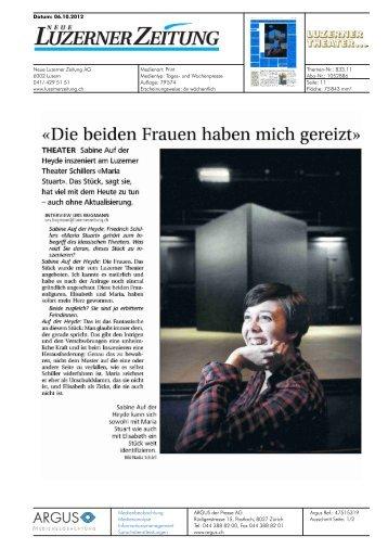«Die beiden Frauen haben mich gereizt» - Luzerner Theater