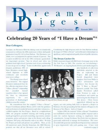 "Dreamer Digest - Summer 2001 - ""I Have A Dream"" Foundation"