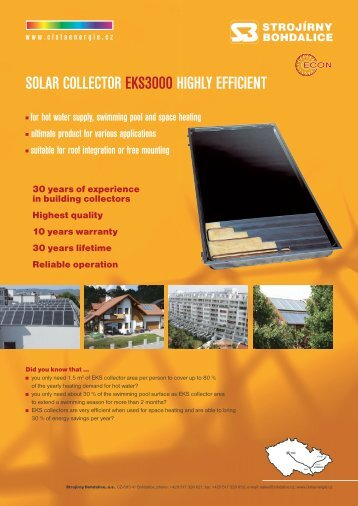 SOLAR COLLECTOR EKS3000 HIGHLY EFFICIENT for ... - HQ Line