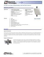 5.4 GHz to 5.8 GHz 19 dBi Wireless LAN Flat Patch Antenna