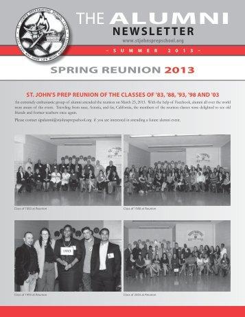 Summer 2013 Alumni Newsletter - St. John's Prep