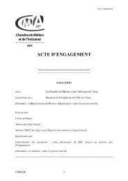 Acte d'Engagement mobilier - Chambre des Métiers et de l'Artisanat