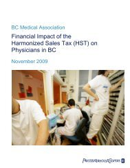 (HST) on Physicians in BC - British Columbia Medical Association