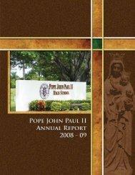 2008-09 Annual Report Magazine.pdf - Pope John Paul II High School