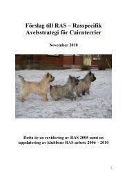 Rasspecifik Avelsstrategi (RAS) - Svenska Kennelklubben