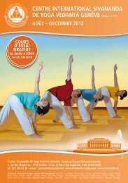 Le programme de Genève - Sivananda Yoga