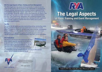 The legal aspects of race, training and event management - rya