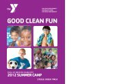 GOOD CLEAN FUN - YMCA of Greater Charlotte