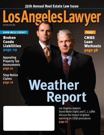 Los Angeles Lawyer January 2010 - Jeffer Mangels Butler & Mitchell ...