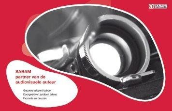 Brochure SABAM partner van de audiovisuele auteur