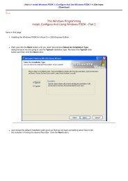 Install, Configure and Use Windows SDK 2 - Tenouk C & C++