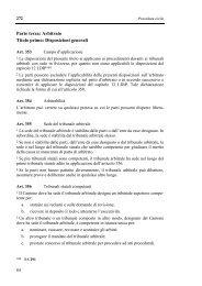 Parte terza: Arbitrato Titolo primo: Disposizioni generali
