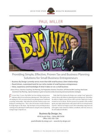 PAUL MILLER - Business by Design