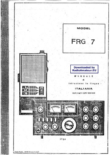 200 free magazines from radiomanual info  yaesu frg 7 user manual italiano radiomanual eu