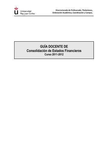 Guia Docente CEF 2011-2012 - FCJS - Universidad Rey Juan Carlos
