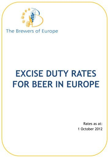 EXCISE DUTY RATES FOR BEER IN EUROPE - The Brewers of ...