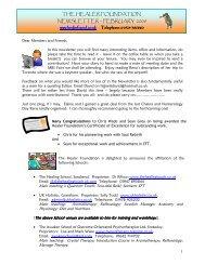 THE HEALER FOUNDATION NEWSLETTER – FEBRUARY 2008