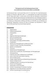 Prüfungsordnung für den Studiengang Soziale Arbeit an der ...