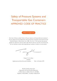 Safety of Pressure Systems and Transportable Gas Containers ...
