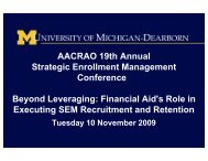 Financial Aid's Role in Executing SEM Recruitment and ... - AACRAO