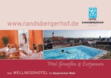 Prospekt 2009.indd - Wellnesshotel Bayerischer Wald