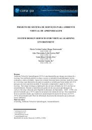 projeto de sistema de serviços para ambiente virtual de aprendizagem