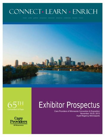 2013 Convention Exhibitor Prospectus - Care Providers of Minnesota