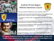 Referee Awareness Course - Scottish Football Association