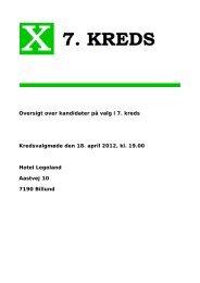 Oversigt over kandidater på valg i 7. kreds Kredsvalgmøde den 18 ...