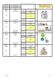 THOMAS Advertising Material Overview - Rosenthal