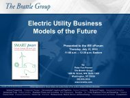 Electric Utility Business Models of the Future - Institute for Electric ...