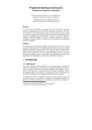 Projeto de Interfaces de Usuário: Perspectivas ... - DIMAp - UFRN