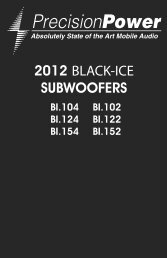 2012 BLACK-ICE SUBWOOFERS - Precision Power