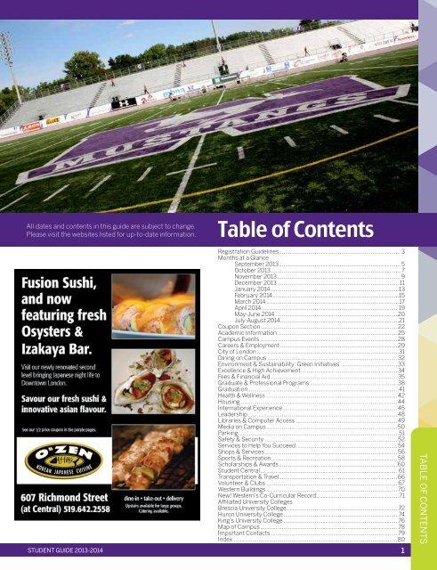 2013-2014 Student Guide. - Academic Calendar - University of ...