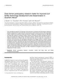 Does farmer participatory research matter for improved soil fertility ...