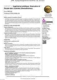DVE207 - Ingénierie juridique, financière et fiscale des ... - Cnam