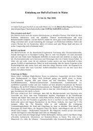 die Einladung inkl. Wegbeschreibung zum ... - BuFaTa Chemie